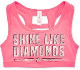 Ideology Shine Like Diamonds Graphic-Print Sports Bra, Big Girls (7-16), Only at Macy's