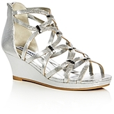 Steve Madden Girls' Metallic Caged Wedge Sandals - Little Kid, Big Kid