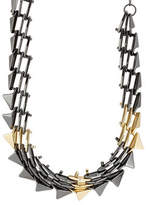 Alexis Bittar Mixed Metal Spike Necklace
