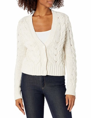 Goodthreads Amazon Brand Women's Marled Long Sleeve Fisherman Cable Cardigan Sweater