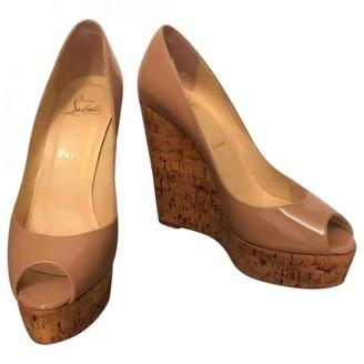 Christian Louboutin Beige Patent leather Espadrilles