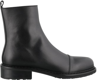 Ann Demeulemeester Round-Toe Ankle Boots