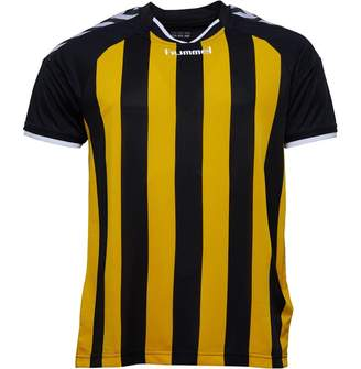 Hummel Mens Stay Authentic Stripe Short Sleeve Match Jersey Black/Yellow