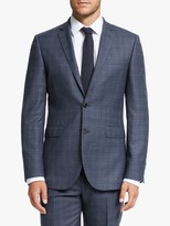 John Lewis & Partners Prince of Wales Check Tailored Suit Jacket, Navy