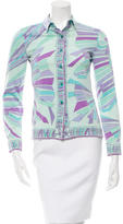 Emilio Pucci Silk Abstract Print Top