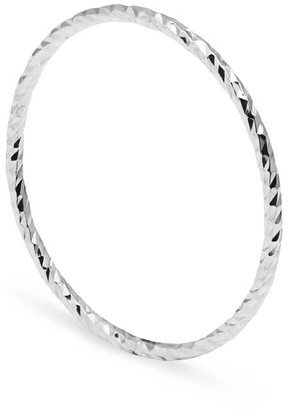 Myia Bonner Silver Ultra Skinny Diamond Stacking Ring