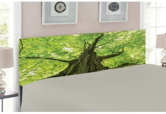 East Urban Home Forest Upholstered Panel Headboard Size: Twin