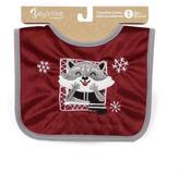 Baby's First by Nemcor Canadian Cuties Christmas Bib-Ranger Raccoon (French)