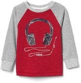 Gap babyGap x (RED) music graphic baseball tee