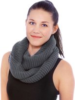 Simplicity Women Fashion Winter Knitted Infinity Scarf Loop Hood