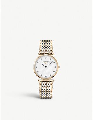 Longines L4.709.1.88.7 La Grande Classique De rose-gold PVD and stainless steel watch