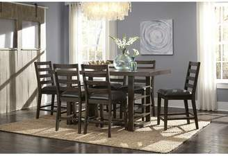 Gracie Oaks Occoquan Trestle Counter Height Dining Table Gracie Oaks