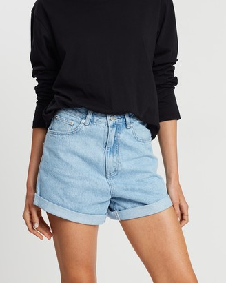 Assembly Label - Women's Blue Denim - Rolled Hem Shorts - Size 6 at The Iconic