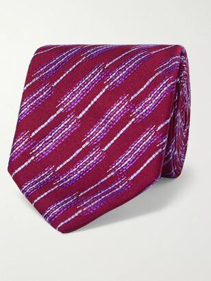 Charvet 7.5cm Striped Silk-Jacquard Tie