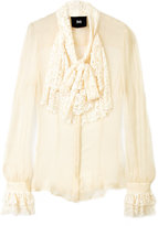 D&G Cream Lace Pussy Bow Blouse