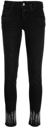 Liu Jo Shimmer Ankle Detail Skinny Jeans