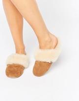 Just Sheepskin Heeled Mule Slippers