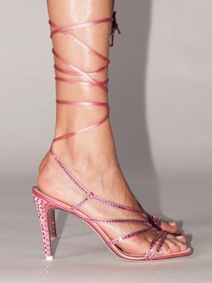 ATTICO 95mm Lvr Exclusive Embellished Sandals
