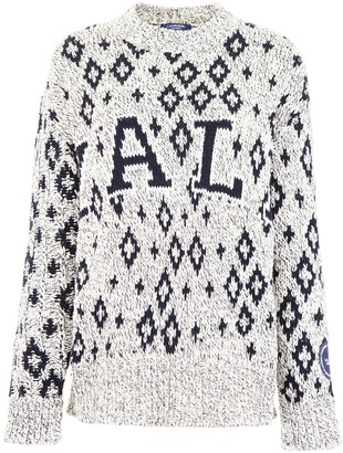 Calvin Klein Yale Geometric Patterned Sweater