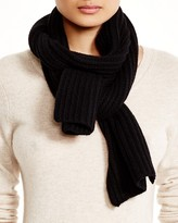 Bloomingdale's C by Ribbed Cashmere Scarf