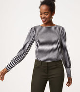 LOFT Striped Blouson Sleeve Tee