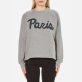 Samsoe & Samsoe Women's Aphia ONeck Paris Jumper - Dark Grey Melange