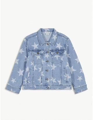 Stella McCartney Star print cotton-blend denim jacket 4-16 years