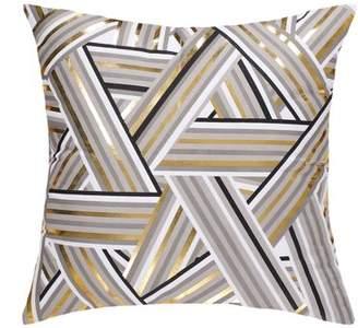 """Unique Bargains Decorative Pillow Covers Bronzing Gold Print Throw Pillow Case 18""""x18"""""""