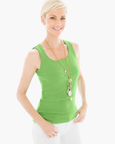 Chico's Ribbed Scoop Neck Tank