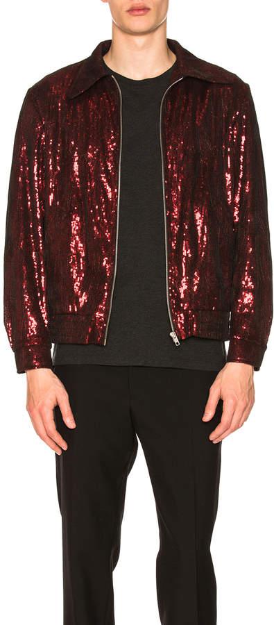 Maison Margiela Full Zip Sequin Jacket