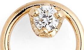 Zoë Chicco Diamond Circle Stud Earrings