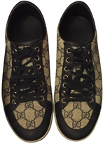 Gucci Blue Leather Trainers