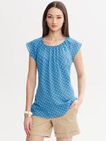 Banana Republic Printed Open-Back Tee