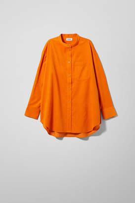 Weekday Dakota Cord Shirt - Orange