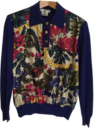 Celine Blue Wool Knitwear for Women Vintage