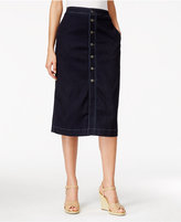 Style&Co. Style & Co. Petite Button-Down Denim Midi Skirt, Only at Macy's