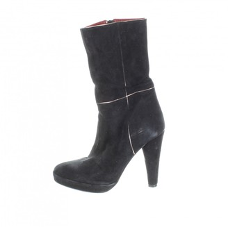 Pierre Hardy \N Black Suede Ankle boots