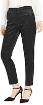 Oasis Bamboo Jacquard Trousers, Black