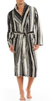 Roundtree & Yorke Plush Stripe Robe
