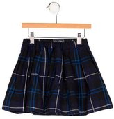Oscar de la Renta Girls' Wool Plaid Skirt