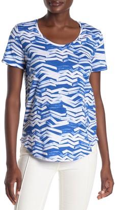 Joe Fresh Scoop Neck Patterned T-Shirt