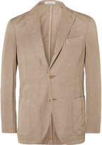 Boglioli - Brown Slub Cotton And Linen-blend Suit Jacket