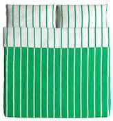 Ikea TUVBRACKA - Duvet Cover and 2 Pillowcases King Size Green White Striped
