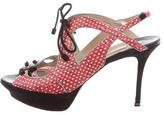 Nicholas Kirkwood Embossed Platform Sandals