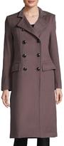 Badgley Mischka Trinity Wool Epaulette Coat