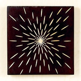 Starburst Wood Wall Plaque