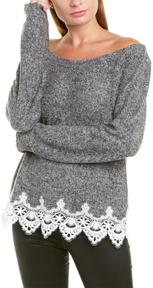 The Kooples Lace-Trim Sweater