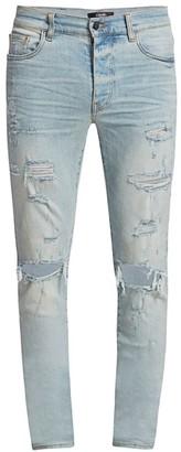 Amiri Thrasher Plus Distressed Skinny Jeans