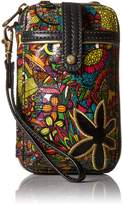 Sakroots Artist Circle Smartphone Wristlet Convertible Cross Body Bag