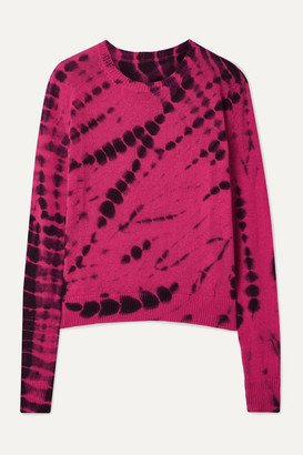 The Elder Statesman Tie-dyed Cashmere Sweater - Fuchsia